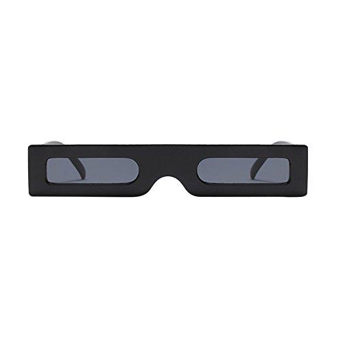 LIGEsayTOY Vintage Rechteckige Sonnenbrille Retro Eyewear Kleiner Rahmen Mode Damen Herren Fahrerbrille Brille Golf Rechteckige Style Braun Orange Neon Wood Gesicht Optische Fancy