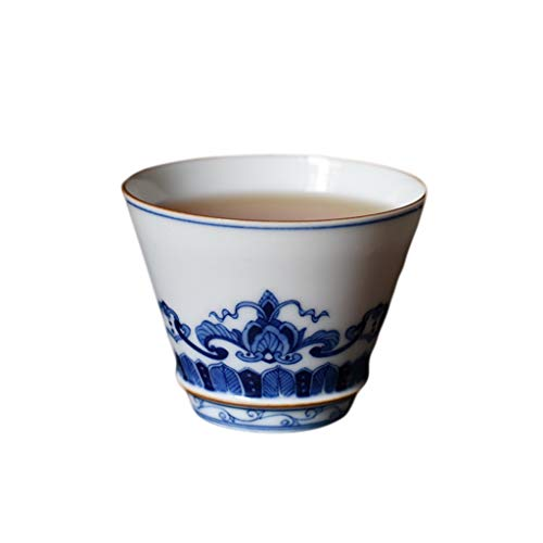 Coupe à la main Guanyin Lotus Master peinte à la main en porcelaine blanche tasse unique tasse à thé en céramique tasse à dégustation