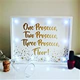 Gold Weiß LED-Licht bis Plaque Wand montierbar oder freistehend (1 Prosecco, 2 Prosecco, 3 Prosecco, Boden))