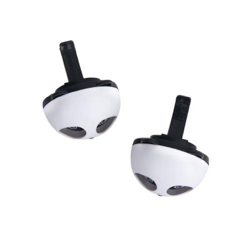 Profumo-Deodorante-Per-Auto-2pz-Panda-con-Due-Clip-Nero