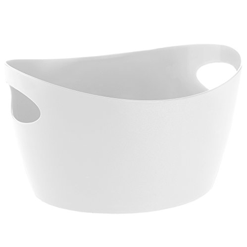 koziol bassine 15 l Bottichelli L, thermoplastique, blanc, 41 x 48,5 x 23,5 cm