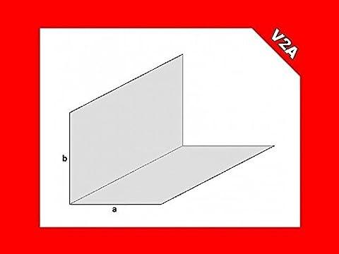 Edelstahl Winkel Winkelprofil L-Profil 2mm Stärke V2A VA Schiene Kantenschutz (geschliffen/gebürstet) - Thorwa® (L1500mm - 100mm x 100mm (axb))