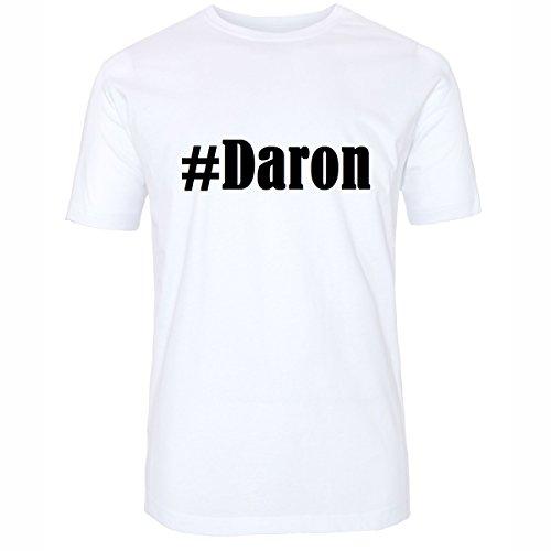 T-Shirt #Daron Hashtag Raute für Damen Herren und Kinder ... in den Farben Schwarz und Weiss Weiß