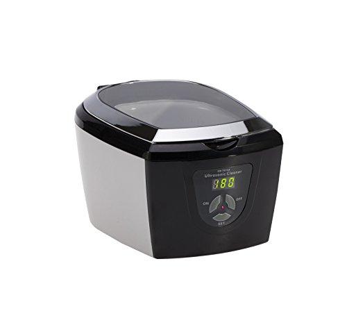 JPL Ultra 7000 Ultraschallreiniger mit einstellbarer Reinigungsleistung, ideal auch für empfindliche Gegenstände, in chrome/schwarz-Design