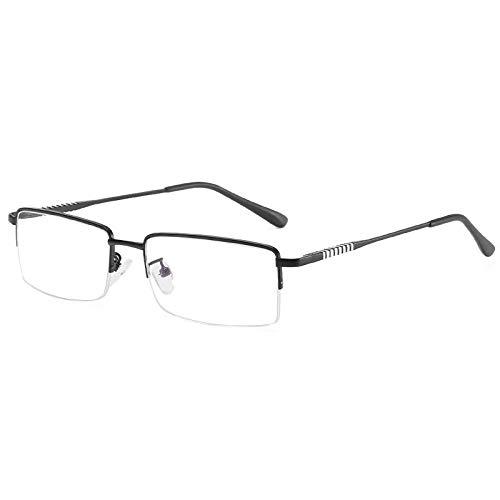 JSJIA Strahlenschutz Blu-Ray Brille Herren Business Half Frame Eyes Damen Flat Frames Brille