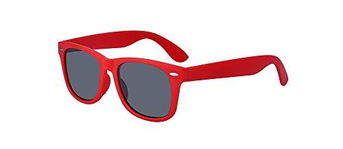 Outray Kids Polarized Sonnenbrillen TPEE Flexible Rubber Shades für Mädchen Jungen Alter 3-10 Rot