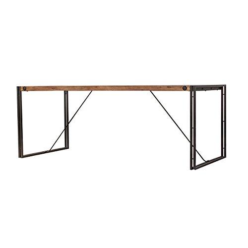 Meubletmoi Workshop Mesa de estilo industrial, estructura de metal y tablero de madera, metal, Acacia et Métal, 160 x 90