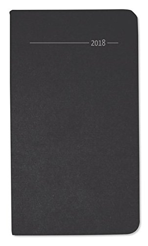 Taschenkalender Silk Line Onyx 2018 - Bürokalender