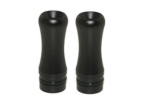 Round 510 Drip Tip im 2er Sparpack, fit für ViVi Nova / DCT und 510 Clearomizer, Schwarz (schwarz)