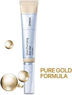Gold Anti-Aging Eye Gel, Moisturizing Travel Treatment Cream - 25ml VPROVE
