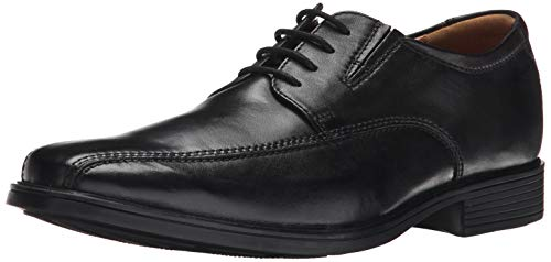 Clarks Tilden Walk, Zapatos de Cordones Derby para Hombre, Negro (Black Leather), 43 EU