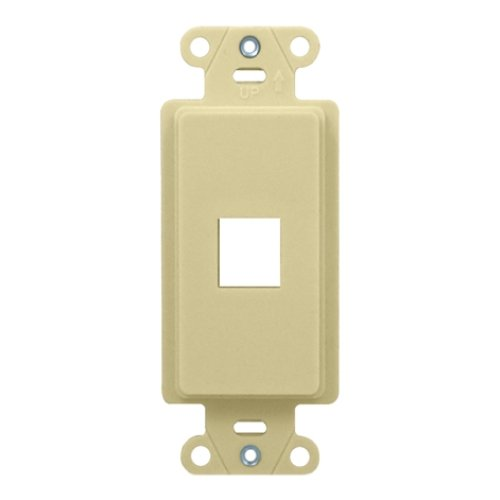 OnQ / Legrand WP3411LA 1Port Decorator Outlet Strap, Light Almond by - Wall Light Plate Almond