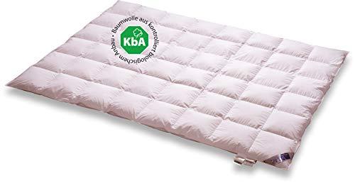Vita Schlaf Bio DE Luxe Daunendecke Leicht Deutsche Qualität mit KBA Einschütte 135 x 200 cm