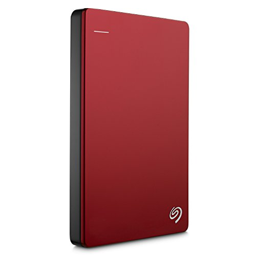 Seagate 1TB Backup Plus Slim USB 3.0 Portable 2.5 Inch External Hard Drive for PC and Mac with 2 Months Free Adobe Creative Cloud Photography Plan - Red