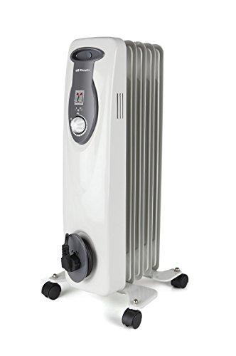 Orbegozo RA E Radiador bajo consumo de Aceite de 1000 W y Construcción Modular de 5 Elementos, Blanco