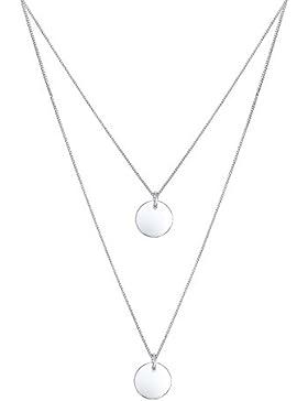 Elli Halskette 2-lagig Layer Kreis 925 Silber