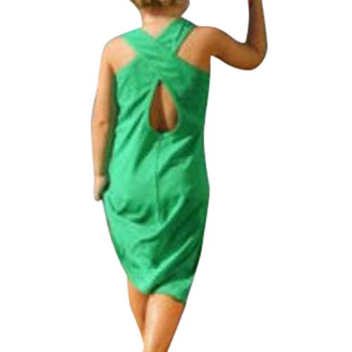 Quaan Mama, ich Kind Mädchen ärmellose Feste rückenfreie Kleidung langes Kleid Festliches Kleider für Hochzeit Sommer Brautjungfern Blumenmädchen Kinder elegant zweifarbig Partykleid