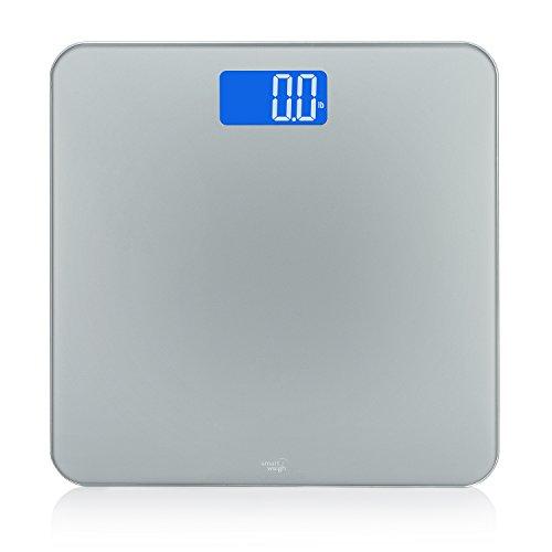 Intelligentes wiegen Sie digitale Badezimmer-Skalen mit intelligenter Step-Ontechnologie, rutschfestem modernem Design und leicht erkennbarer hintergrundbeleuchteter Anzeige, Kapazität 200 Kilos