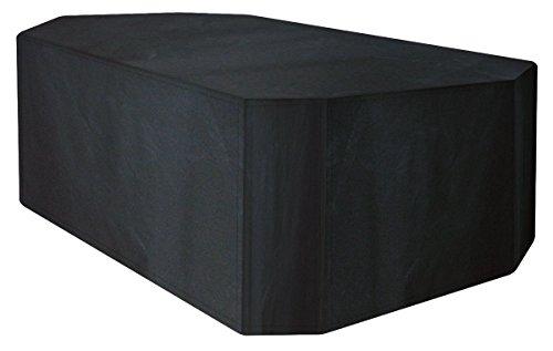 A1412 Ascot Housse de protection pour rectangulaire meubles, argent Qualité, Noir (6 places Cover Set)