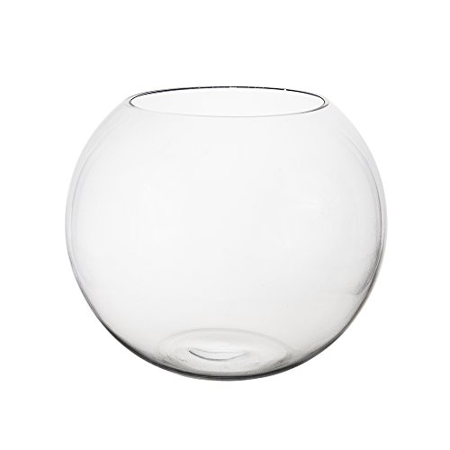 (Mega Vasen–21,6x 17,8cm Bubble Fish Bowl Glas Vase–Set Transparent, 1Stück)
