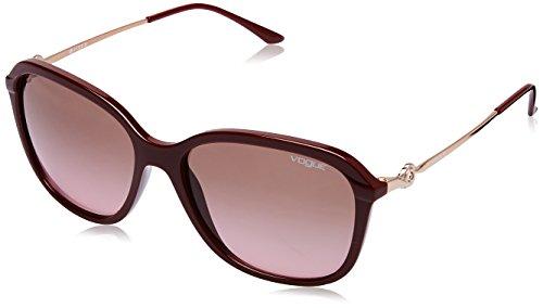 Vogue Gradient Square Women's Sunglasses - (0VO5146II21391458|58|Pink Gradient Brown Color) image