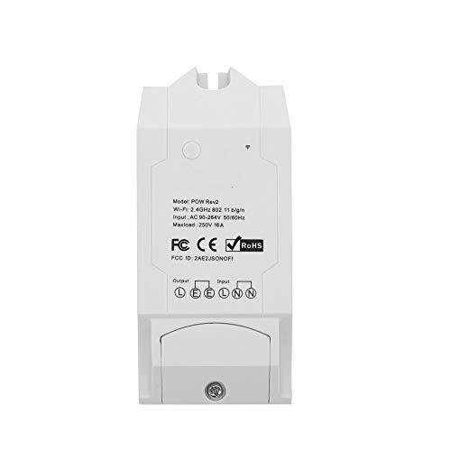 Sonoff Pow R2 Smart Switch-Contrôleur Marche/arrêt sans Fil avec Mesure de la consommation électrique en Temps réel Prise en Charge des dispositifs de la Maison Intelligente pour Alexa Voice Control