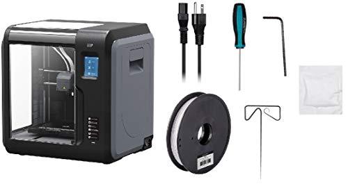 Monoprice Voxel 3D-Drucker - Schwarz/Grau mit abnehmbarer, beheizter Bauplatte (150 x 150 mm) Vollständig geschlossen, Touchscreen, unterstütztes Niveau, einfaches WLAN, 8 GB interner Speicher - 6