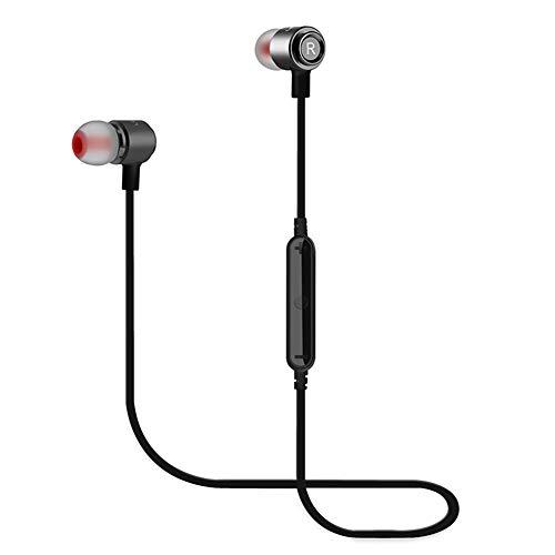 WERNG Bluetooth-KopfhöRer Magnet Sport-Bluetooth-In-Ear-KopfhöRer Drahtlose OhrhöRer,Black