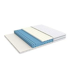 Alkove - Doppelseitige Memoryschaum-/Latex-Matratze mit 3 Schaumschichten und abnehmbarem SanitizedTM-Bezug, 140 x 200 x 23cm