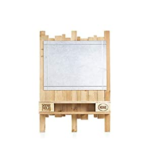 Palettenmöbel Spiegel mit Ablage in Palettenoptik Vintage gebeizt. Jedes Möbel ein Unikat und in Handarbeit in Deutschland hergestellt.