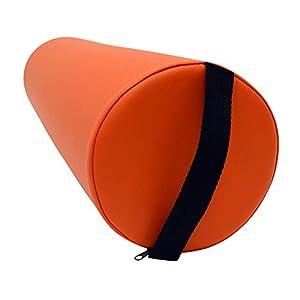 Massage Lagerungsrolle mit Griff für die Massageliege – Vollrolle Knierolle mit PU-Bezug in verschiedenen Farben und wasserabweisend (Braun)
