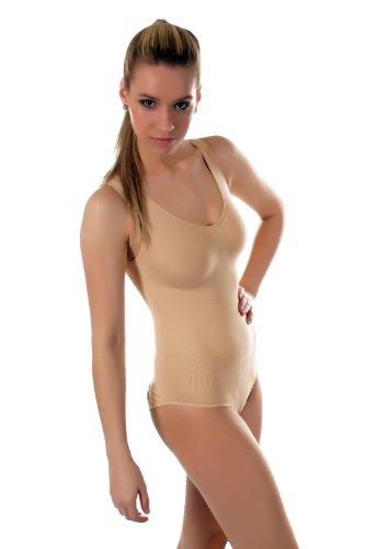 Damen Träger Shape-Body Bodywear / Bauch- und Taillien Former - Unterwäsche, Gr.(34-38), 3600-VKA01 Beige