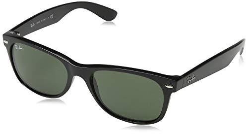 Ray-Ban Unisex Sonnenbrille New Wayfarer, Black, Large (Herstellergröße: 55)