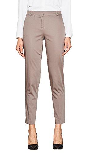 ESPRIT Collection Damen Hose 998EO1B800, Braun (Taupe 240), 36 (Blazer Stretch Wolle)