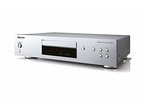 Pioneer PD-10 AE-S Pure-Audio-CD-Player mit Silent-Drive-Laufwerk und 10ppm-Precision-Clock, Silber