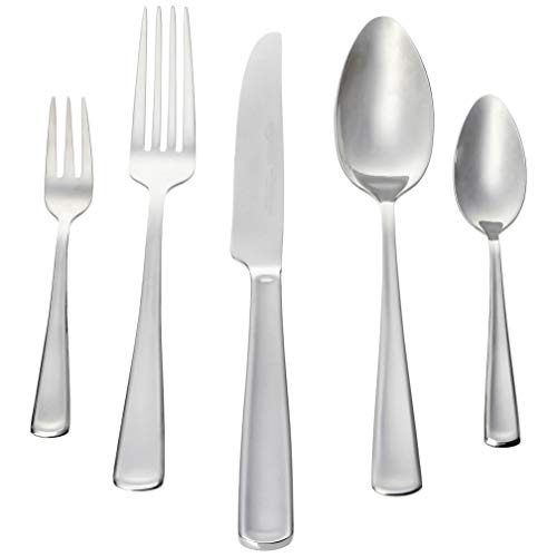 AmazonBasics -30-teiliges Besteck-Set, Silberfarben - für 6 Personen[moderner Stil] (Besteck-set Für 6)