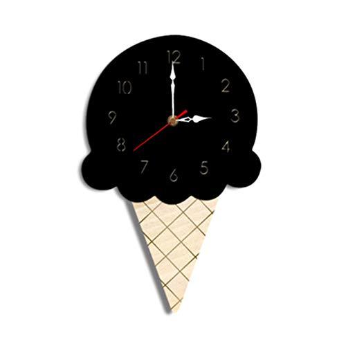 Mily MILYHome Ice Wall Clock Cartoon Clock Mute Wall Clock Decoration Nursery Soft Clock