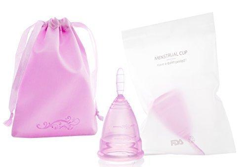 monicup Menstruationstasse lila Größe S (klein): 7 x 4,5cm 20 ml medizinisches Silikon Starterset mit Satinbeutel