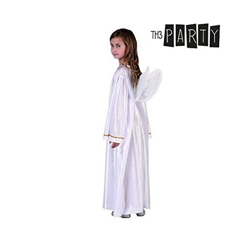 Atosa-32163 Atosa-32163-Disfraz Angel Unisex Infantil-Talla Navidad, Color Blanco, 10 a 12 años (32163)