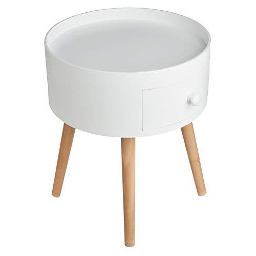 Limal Beistelltisch, Holz, Weiß, 38,5 x 38,5 x 45,5 cm - Schlafzimmer Beistelltisch