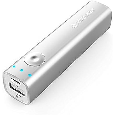 TeckNet PowerSpike S1 3200mAh ultra-compacto cargador de batería portátil externa Power Bank Pack USB con BLUETEK™ Tecnología para Apple iPhone, iPod, Smartphone, teléfono celular, MP3, MP4, PSP, GPS, Gopro, Samsung Android y más