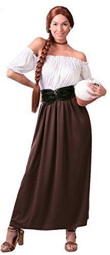 rt Wirtin Oktoberfest Bier Maiden Servieren Wench Kostüm, 14-18 - Braun, L (Bier Wench Kleid)