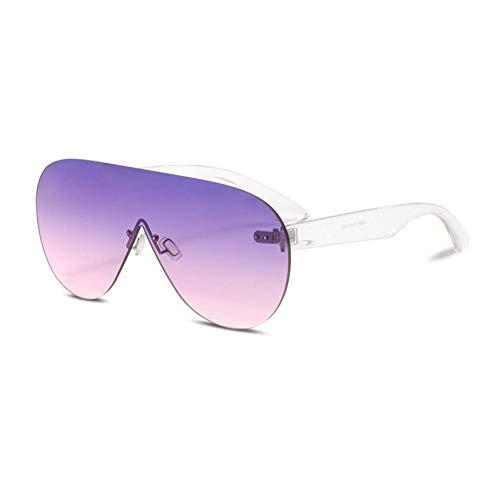 Taiyangcheng Polarisierte Sonnenbrille Übergroße Sonnenbrille Für Frauen Ozean Objektiv Gradienten Sonnenbrille Männer Weibliche Große Oversize Shield Randlose Uv400,Purpur Rosa