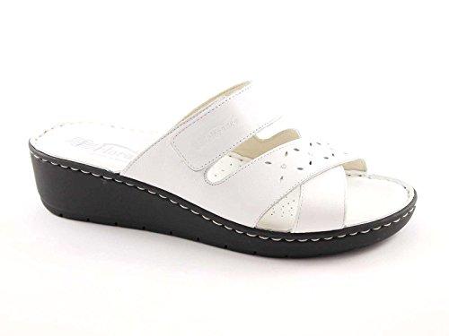 FLORANCE 21006 bianco scarpe donna ciabatte pelle strappo comfort 41