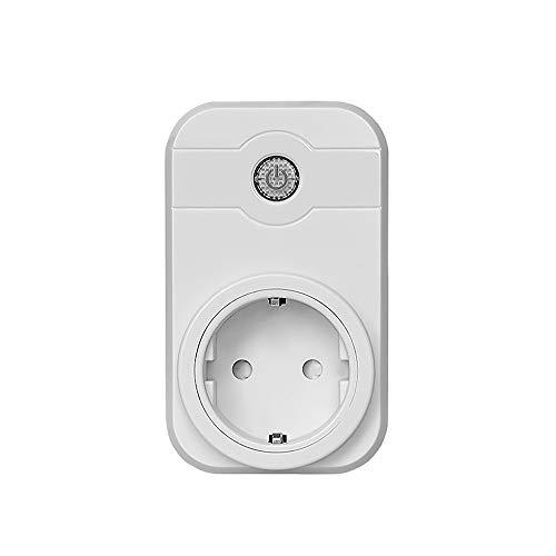 Docooler Intelligenter Stecker Steckdose Schalter 100-240V 10A 2,4 GHz WiFi Voice Control Works Mit Amazon Alexa Google Home Assistant und App Remote Controlled Outlet Kein Hub erforderlich