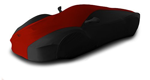 coverking-custom-fit-car-cover-for-select-maserati-granturismo-models-satin-stretch-red-with-black-s