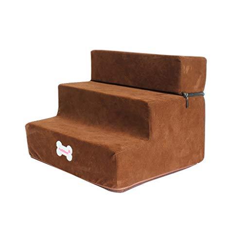 3 Kostüm Bett - Timogee Haustiertreppe Easy Step Hundetreppe Treppen Stufen für Hunde rutschfeste Unterseite Haustierbett Katze Hunderampe 3 Schritte