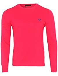 Fred Perry Pullover Herren Rosa Baumwolle Casual L