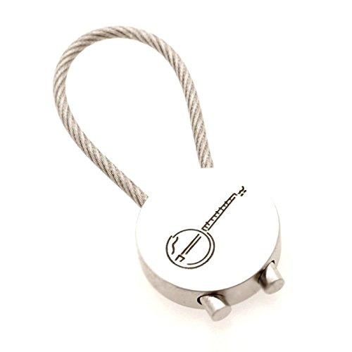 Schlüsselanhänger Banjo aus Metall (rund) - Schönes Geschenk für Musiker