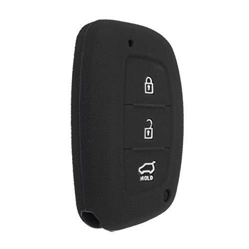 Viviance Auto Fernschlüssel Silikon Fob Protektor Cover Case DREI Knopf Für Hyundai I40 Mistra Solaris - Schwarz